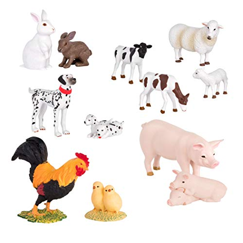 Terra by Battat – Farm Animal Set (Pairs) – Pairs of Collectable Miniature Farm Animal Toys for Kids 3+ (12 pc)