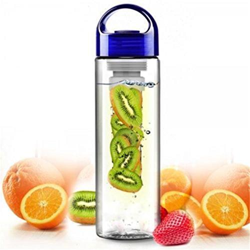 LYDYK sport-waterfles met fruitfilter voor outdoor, sport, camping, thuis, school.