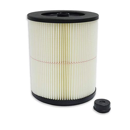 PUREBURG 17816 Replacement Red-Stripe Filter for Craftsman Fits 5/6/8/12/16/32 Gallon Large Wet Dry Shop Vacs Replace Part# 9-17816 , 1-Pack