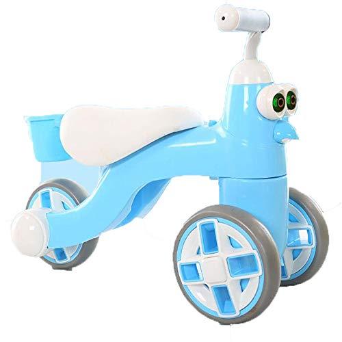 Equilibrio de bicicletas For niños de 1 a 3 años de edad Niño Niña de acero de carbono de alta competitiva equilibrio del coche sin pedal al aire libre del niño de la bici del bebé de dibujos animados