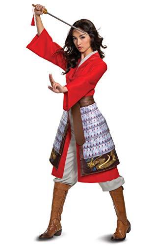 Mulan - Disfraz de héroe rojo para mujer - rojo - L