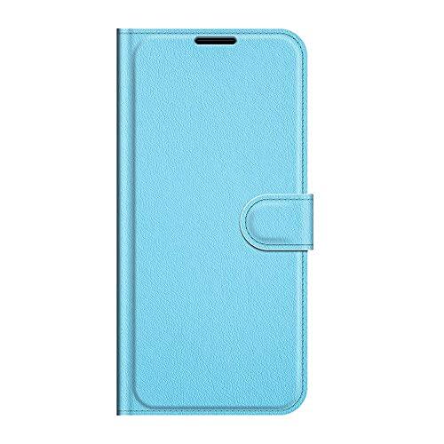 zl one Compatible con/Reemplazo para la caja del teléfono Xiaomi Redmi 6A PU Cuero Protección Ranuras para tarjetas Cartera Funda Flip Cover (Azul)