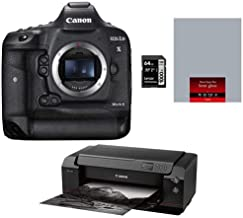 Canon EOS 1DX Mark II DSLR Body - Bundle imagePROGRAF PRO-1000 17in Professional Photographic Inkjet Printer, SG-201 Semi-Gloss Photo Paper 17x22in (25 Sheets), 64GB U3 SDXC Card