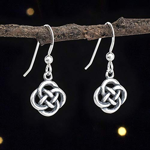 Sterling Silver Tiny Celtic Love Knot Earrings - Handmade, Solid .925
