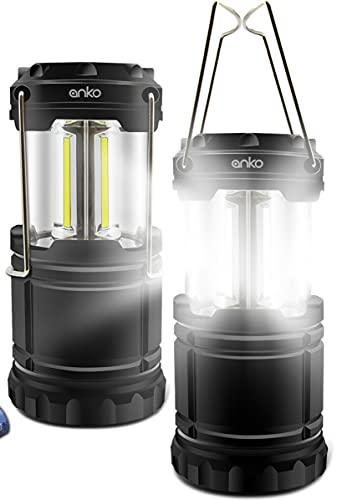 Portable LED Camping Lantern Light Solar Rechargeable Flashlight Portable Rechargeable Led Lanterns, Hurricane Lights with Flashlight COB Bulb Lamp for Emergency, Hiking, Fishing