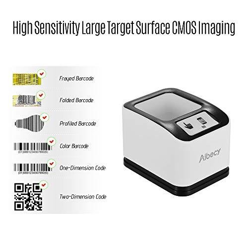 Great Price! Aibecy 2200 1D/2D/QR Bar Code Scanner CMOS Image Desktop Barcode Reader USB Omnidirecti...