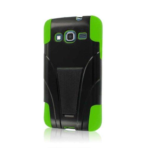 MPERO Impact X Series Kickstand Hülle Tasche Hülle for Samsung ATIV S Neo I800 I8675 - Neon Grün