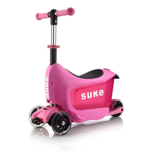 Read About Cylficl Children's Scooter (2-5 Years Old Can Sit) Three-in-one Four-Wheel Multi-Function...