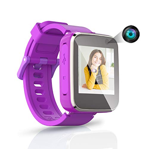 Yehtta Kids Smart Watch Toys for 4-10 Year Old Girl Toddler Watch for Boys&Girls Purple Children Multi-Function Watch with Selfie-cam Birthday Gifts for Kid Touch Screen Rechargeable Watch