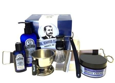 Colonel Conk Model 2313 Straight Razor Set with Stainless Steel Bowl