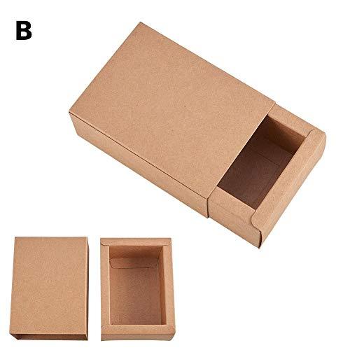 mooderff kraftpapieren geschenkdozen, 20-delige set, DIY kartonnen geschenkdoos juwelendoos verpakking dozen zeep Candy cadeauverpakking dozen