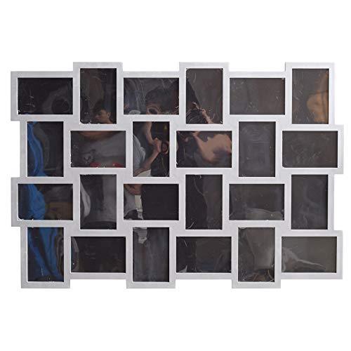 Rebecca Mobili Portafoto Multiplo da Parete, cornici fotografie da Muro, 24 spazi Misure 10 x 15, Decorazioni casa - Misure: 61 x 92 x 1,2 cm (HxLxP) - Art. RE4513