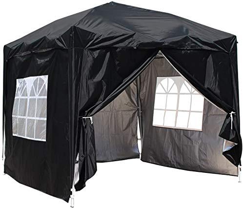 Garden Full Season Heavy pop-up gazebox, with 4 Side Panels,Black