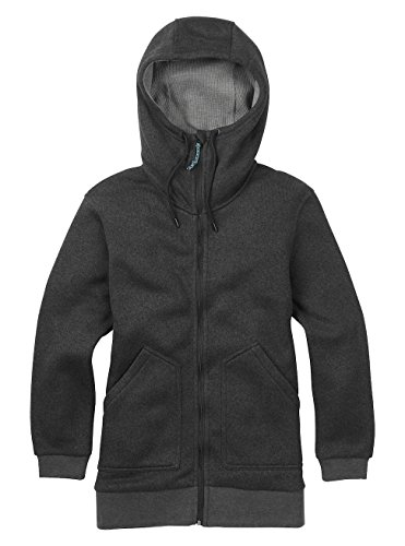 Burton Women's Minxy Full Zip Sweater (Black Heather, Medium)
