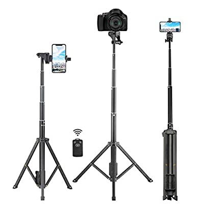 Selfie Stick Tripod, Eocean 54'' Extendable Selfie Stick with Phone Tripod Stand & Wireless Remote for iPhone SE 11 Pro Max X 8 7 6 Galaxy Note 9 Android, Perfect for Live Stream/Vlog, Lightweight by Eocean