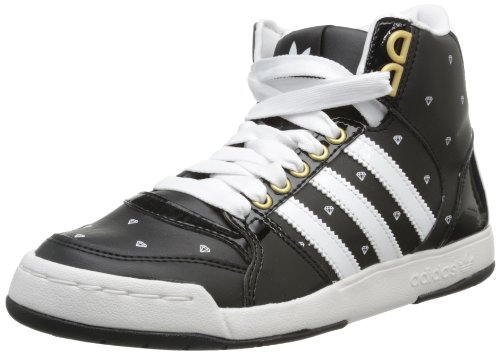 adidas Originals Midiru Court Mid 2.0 W, Baskets mode Femme Noir (Black/Running White/Gold) 40 EU