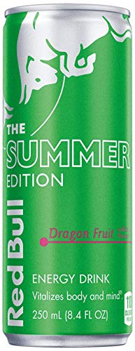 NEW Red Bull 2021 Summer Edition 4 Cans Dragon Fruit Flavor (Dragon Fruit, 8.4 Ounce)