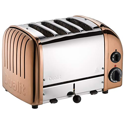 Dualit Classic 4 Slice Vario Toaster - Stainless Steel, Hand Built-In The UK - Replaceable ProHeat elements - Heat Two or Four Slots, Defrost Bread, Mechanical Timer - Replaceable Parts - 47450