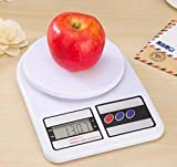 MKH Moms Kitchen Hub Electronic Digital 10 Kg Weight Scale Kitchen Weight Scale Machine Measure for Measuring Fruits,Spice,Food,Vegetable and More White