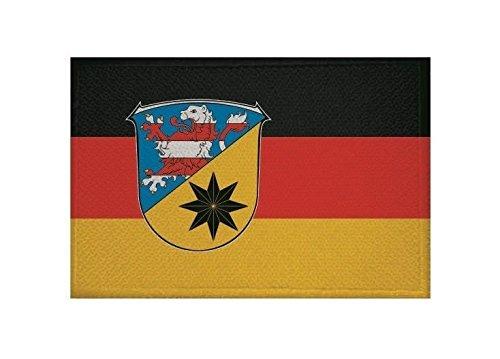 U24 Aufnäher Landkreis Waldeck-Frankenberg Fahne Flagge Aufbügler Patch 9 x 6 cm