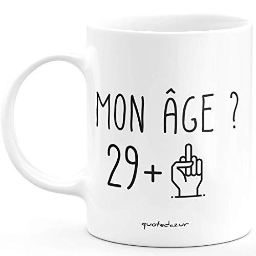 quotedazur Idée Cadeau 30 ans Homme Femme - Cadeau Anniversaire Trente Ans - Idée Cadeau Original, Humour, Drôle, Rigolo, Fun - Mug Tasse Café Ou Thé Pas Cher