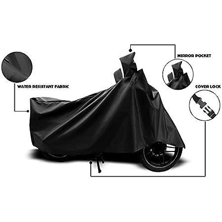 ANTHUB™ - Bajaj Pulsar NS-160 - BS6 - Water Resistant - UV Protection & Dustproof Full Bike Body Cover (Black)
