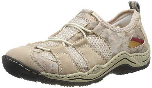 Rieker Damen L0543-31 Sneaker, Rot (Altrosa/Rosa/Bouchara/Rose-Silver 31), 38 EU