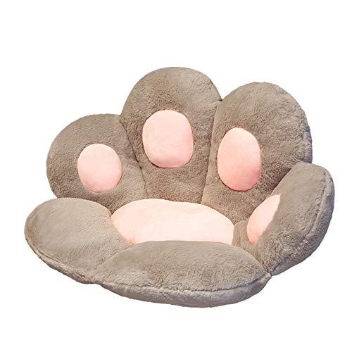 ADICOM Cute Cat Paw Plush Chair Cushion, Cute Kids Seat Cushion Cat Paw Shape, Cat Paw Shape Lazy Sofa Office Chair Prefect Gifts for Children and Girlfriend Large White