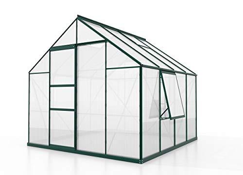 Vitavia Meridian 1 6700 HKP6mm, smaragd Gewächshaus 2 Dachfenster 1 Seitenfenster Garten