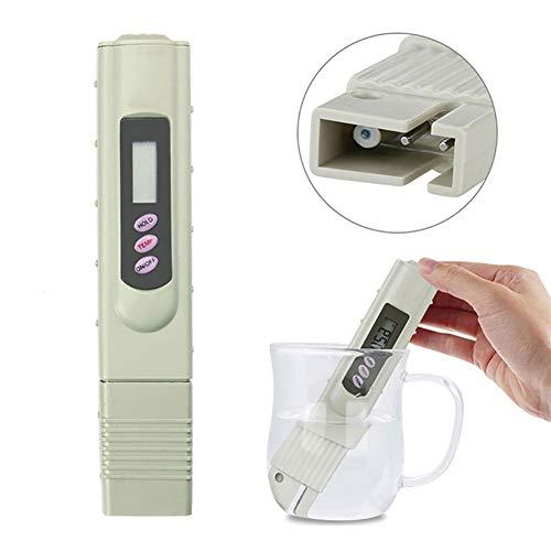 Ouken 3-Knopf Digital TDS Wasser Qualitäts-Test Zähler-Kit mit Temperaturkalibrierung, 0-9990 ppm MessBereich, 1 PPM Genauigkeit