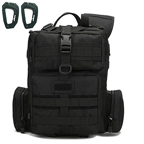 MOLLE Tactical Sling Bag Pack Military Sling Backpack Assault Range Bag(black 01)