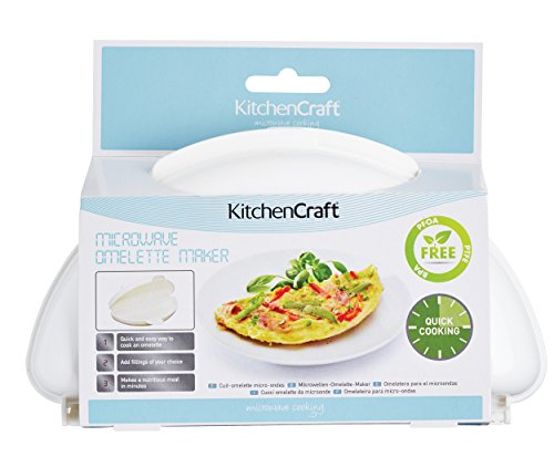 KitchenCraft Microwave Omelette Maker, Plastic, 21 x 15 cm