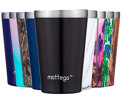 mottego (モッテゴー) 真空断熱 ステンレス タンブラー マグ カップ 保温保冷 コンビニカップとしても使える 2WAY仕様 (470ml, 黒)