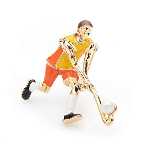 CCJIAC Spielen Eishockey Sportler Broschen Frauen Männer Legierung Emaille Sport Team Casual Brosche Pins Geschenke