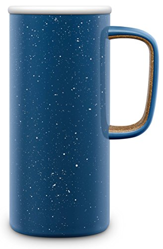 Ello Campy Vacuum Insulated Stainless Steel Water Bottle with Slider Lid, 16 oz, Avalon Sea