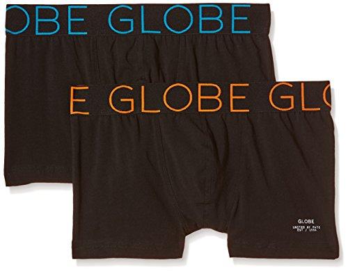 Globe Lindros Lot de 2 Boxers Homme, Noir, FR : S (Taille Fabricant : S)