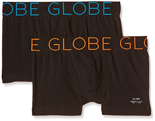 Globe Lindros Lot de 2 Boxers Homme, Noir, FR : S (Taille Fabricant : S)