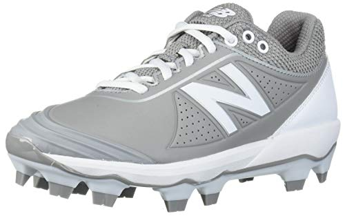New Balance Women's Fuse V2 TPU Molded Softball Shoe, Grey/White, 10.5 Wide