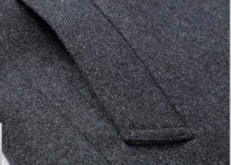 Nomber 4 Colors Autumn Winter Men's Vertical Collar Woolen Coat Men's Medium Long Woolen Coat Charming Wool Blend Hooded
