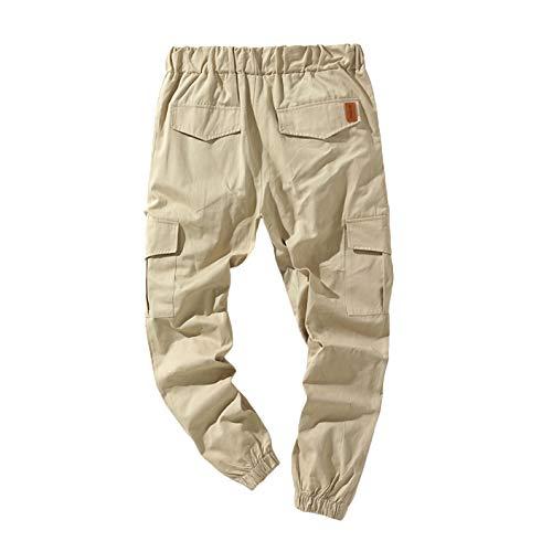 ANGLE Moda Hombre Pantalones de Trabajo Joggers Casual Joggers Workout Cargo Pants...