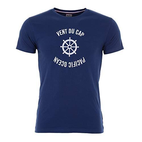 Vent du cap -Tee-Shirt Manches Courtes garçon 10-16 Ans - ECHERYL-marine-10 Ans
