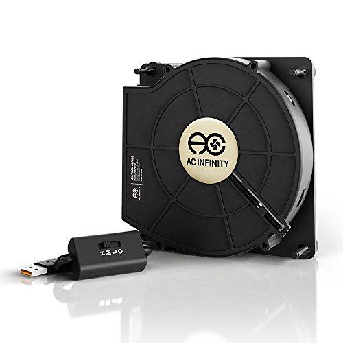 AC Infinity MULTIFAN S2, Leiser 140mm USB Gebläse Ventilator mit Geschwindigkeitsregler, für Receiver DVR Xbox Modem AV Schrank Kühlung