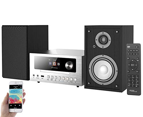auvisio Kompaktanlage: Micro-Stereoanlage mit Webradio, DAB+, FM, CD, Bluetooth, USB, 100 W (Micro Anlage)