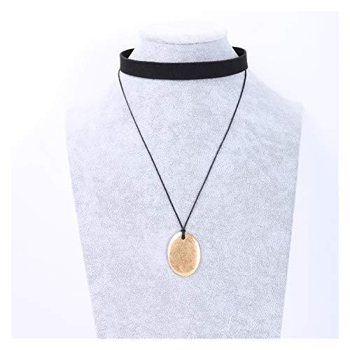 Collar delicado para mujer Collar de cuero de la PU de las mujeres Collar de cadena de clavícula - Punk Rock Gothic O-Ring Choker - Ajustable Cintura de cintura Cinturón Arnés Cuerpo Joyas de