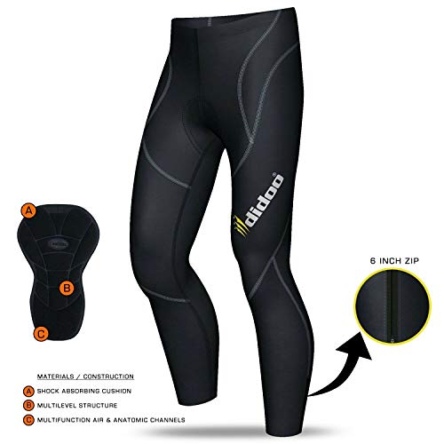 Didoo new men/'s rembourré cuissard cyclisme route vélo de course peau fit leggings