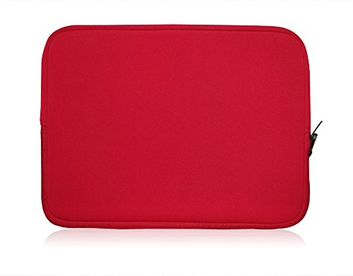 Sweet Tech Red Neoprene Case Cover Sleeve Suitable for Onda oBook 11 Windows Tablet PC 11.6 Inch (11.6-12.5 inch Laptop)