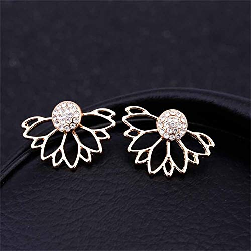 DAIMINNN Crystal Flower Drop Earrings Joyas para Mujer Gold Silver Color Rhinestone Earrings Party Gift Best Friends | Pendientes de Gota |