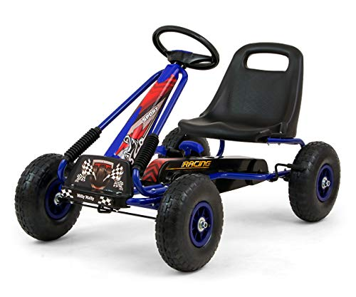 Milly Mally 5901761125771 Go-Kart with pedals Thor Blue, blau, 11.7 kg