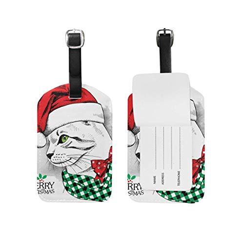 shenguang 2PCS Leder Weihnachten Schneemann Wintergepäckanhänger Reisegepäcketiketten Bag Tag