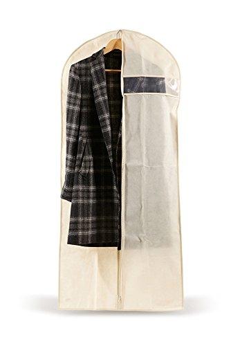 Perfetto Più Easybag draagtas voor abiti/mantels, stof, ecru, 61,0 x 5,0 x 137,0 cm